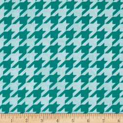 Modern Tyke Houndstooth Blue Fabric