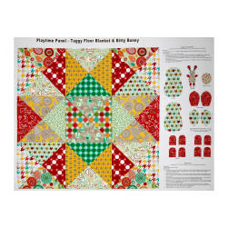 "Modern Tyke Patchwork 36"" Panel Multi"