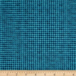 McAnderson's Farm Houndstooth Light Teal Fabric