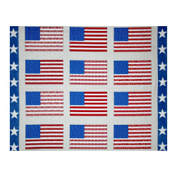 "Let Freedom Ring Flag 36"" Panel Red/Blue"