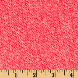 Lightweight Marled Sweater Knit Neon Pink Fabric