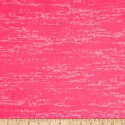 Splash Burnout Jersey Knit Neon Hot Pink Fabric