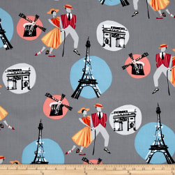 An American In Paris Dancers Gray Fabric