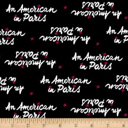An American In Paris Logo Black Fabric