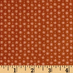 Asterisk Nutmeg Pearl Brown Metallic Fabric