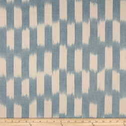 Dream Weaves Woven Ikat Check Blue Fabric