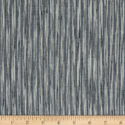 Dream Weaves Woven Ikat Denim White Fabric