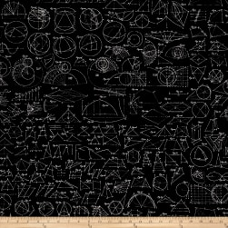 Encyclopedia Galactica Trajectories Metallic Black Fabric
