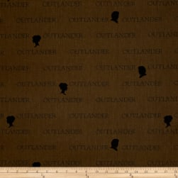 Outlander Large Logo Brown Fabric