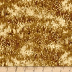 Quail Grass Yellow Fabric