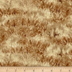 Quail Grass Brown Fabric
