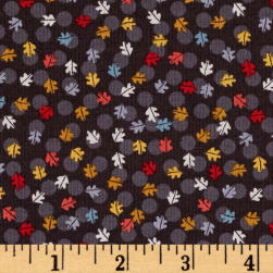Windy Day Leaf Brown Fabric