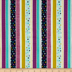 Windy Day Stripe Teal Fabric
