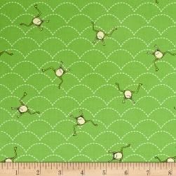 QT Fabrics It's a Pond Party Jumping Frogs