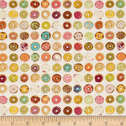 Ink & Arrow Caf-Fiend Doughnuts Ecru Fabric