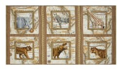 "Out of Africa Picture 23.5"" Patches Cocoa"