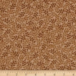 Harmony Flannel Leaf Toast Fabric