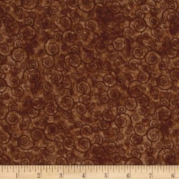 QT Fabrics Harmony Flannel Curly Scroll Sable Fabric