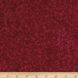 Harmony Flannel Curly Scroll Sangria Fabric