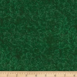Harmony Flannel Curly Scroll Evergreen