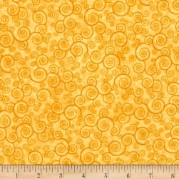 Harmony Flannel Curly Scroll Honey Fabric