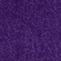 QT Fabrics Harmony Flannel Curly Scroll Pansy Fabric
