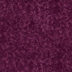 Harmony Flannel Curly Scroll Plum Velvet Fabric