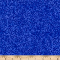 Harmony Flannel Curly Scroll Sapphire Fabric
