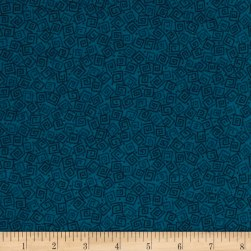 Harmony Flannel Squares Prussian Blue Fabric