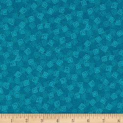 Harmony Flannel Squares Deep Ocean Fabric