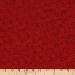 Harmony Flannel Squares Crimson Fabric