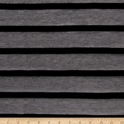 Jersey Knit Stripe Black/Grey Fabric