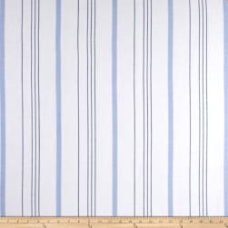 Rayon Yarn Dyed Stripe Twill French Blue/Black Fabric