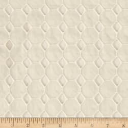 Honeycomb Cotton Eyelet Ivory Fabric