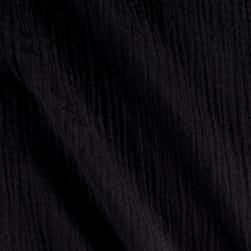 Heavy Cotton Gauze Black Fabric