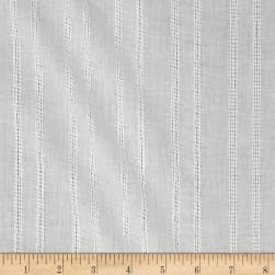 Leno Cotton Stripe Gauze White Fabric