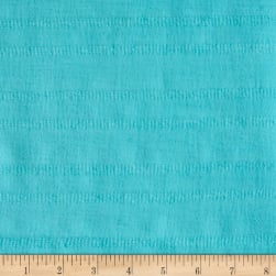 Leno Cotton Stripe Gauze Aqua Fabric
