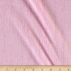 Leno Cotton Stripe Gauze Pink Fabric