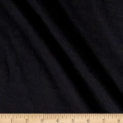 Cotton Bubble Gauze Black Fabric