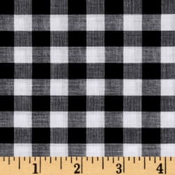 Lawn Gingham Check Black/White Fabric