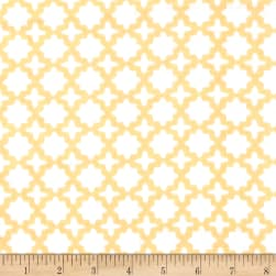 Kaufman Little Prints Double Gauze Trellis Yellow Fabric