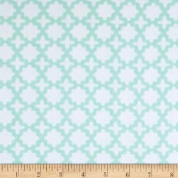 Kaufman Little Prints Double Gauze Trellis Mint Fabric