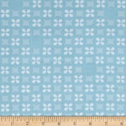 Kaufman Little Prints Double Gauze Silverdollar Sky Fabric