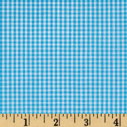 """Richcheck 60"""" Gingham Check 1/16"""" Turquoise"""