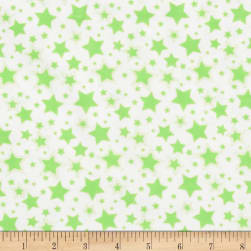 Dreamland Flannel Starry Night White/Green Apple