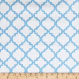 Dreamland Flannel Bella White/Dreamy Blue Fabric