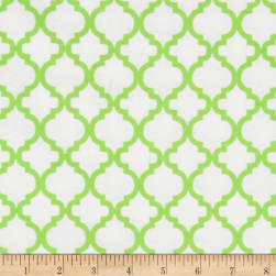 Dreamland Flannel Bella White/Green Apple Fabric