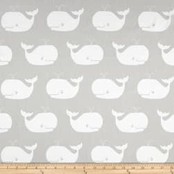 Premier Prints Whale Tales Twill French Grey/White Fabric
