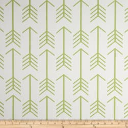 Premier Prints Arrows Twill White/Kiwi Fabric