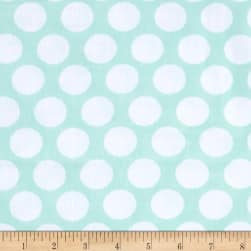 Kaufman Little Prints Double Gauze Dots Mint/White Fabric